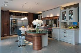 kitchens veering towards splashes of bold colours and textures for