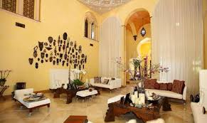 interior of mediterranean living room interior design