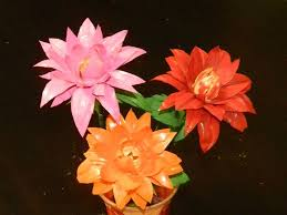What Is Orange Flower Water - diy how to recycle waste water bottles into beautiful dahlia