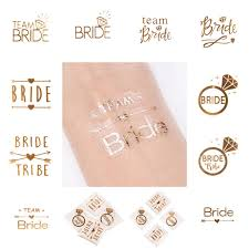 wedding gift letter fengrise 1pc team gold temporary tattoo sticker hen party