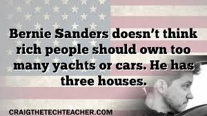bernie sanders houses bernie sanders doesn t think rich people should own too many yachts