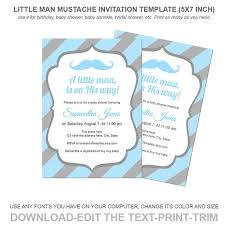 items similar to little man mustache invitation template baby