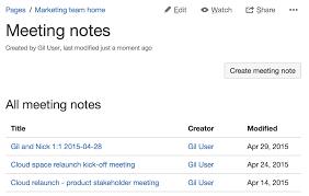 Business Development Meeting Agenda Template by Meeting Notes Blueprint Atlassian Documentation