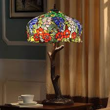 Stained Glass Light Fixtures Best Tiffany Style Stained Glass Lamps Twig Rose Pattern