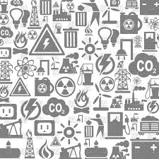 grey background on industry theme icons vector image 80023