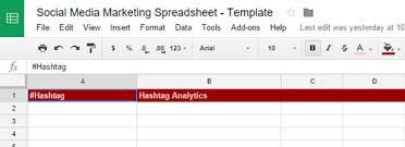 Social Media Analytics Spreadsheet by Social Media Marketing Spreadsheet Keep Social Media Accounts