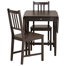ikea black brown dining table amazing ingatorp stefan table and 2 chairs ikea at chair dining