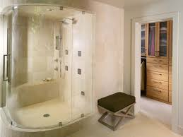 Walk In Shower Designs For Small Bathrooms by Sophisticated Modern Shower Room Design With Sliding Glass Wall