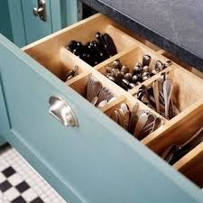 best kitchen organization ideas and tips for keep utensils deep drawer with wooden vertical slots