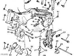 rear frame comp xv920r virago 1982 c usa 5a8211900133