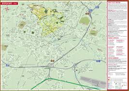 Map Of Al Large Detailed Tourist Map Of Bergamo