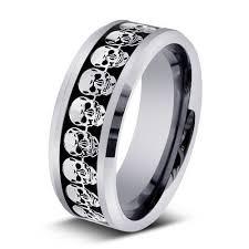 mens skull wedding rings men wedding bands 9 cool skull wedding band woman fashion