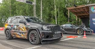 jeep hellcat custom jeep srt8 turbo vs porsche 911 turbo s youtube