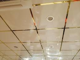 mirror suspended ceiling tiles mirror gold led lights 5 year