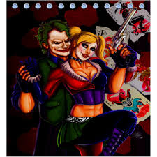 Zombie Pinup Shower Curtain by Harley Quinn Joker Shower Curtain Shower Curtain Pinterest