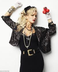 madonna costume outen goes back to the 1980s in retro madonna costume
