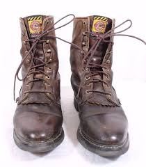 s lace up boots size 12 justin s lace up brown leather work boots size 12 d worn