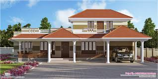 western style house plans kerala home design floor plans bedroom style villa home building