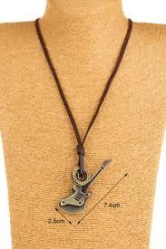 guitar necklace pendants images Fashion men jewelry accessories necklaces pendants genuine jpg