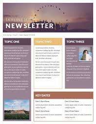 advertising template free free newsletter templates examples 10 free templates skyline high classroom newsletter template