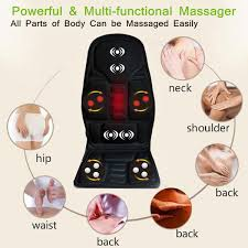 Back Pain Chair Cushion Neck Lumbar Back Pain Relief Tools Massage Heating Relaxation Mat