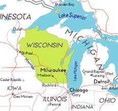 wisconsin map usa map of wisconsin in the usa