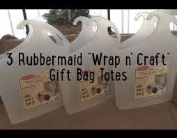 rubbermaid wrap n craft 3 rubbermaid wrap n craft gift bag tote set of 3 arts
