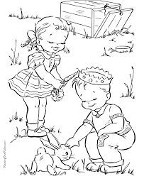 fun spring coloring picture kid valerieegea redwork