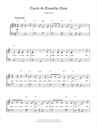 Three Blind Mice Piano Notes A Doodle Doo Sheet Music By Traditional Nursery Rhyme Piano