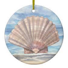 scallop shell ornaments keepsake ornaments zazzle