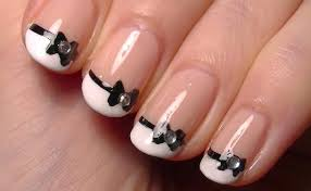 cute little bow nail art u2022 simple nail polish art tutorial for
