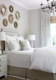 Headboard With Mirror by Amazing Bedroom With Gray Walls Paint Color Gray Linen Headboard
