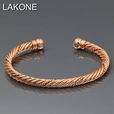 magnetic gold bracelet images Lakone fashion jewelry pure copper rose gold color magnetic wrist jpg