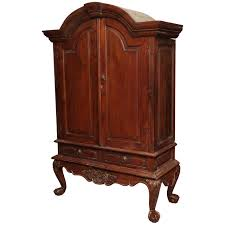 Dark Cherry Armoire Large Indonesian Dutch Colonial Teak Palatial Armoire From The