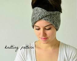 knitted headband pattern knitting pattern knit twisted turban headband