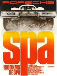 vintage orange porsche 1970 spa race poster silodrome spa vintage porsche and cars