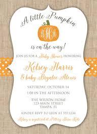 pumpkin baby shower invitation fall baby shower invitation