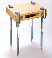Flat Bar Table Legs C Clamp Legs Turn Any Flat Object Into A Table Neatorama