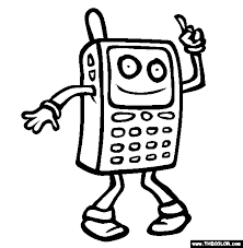 cell phones free coloring pages art coloring pages