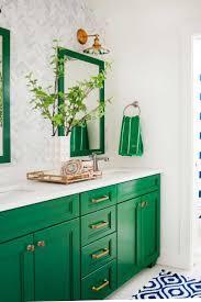 bright colored bathrooms