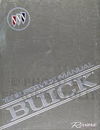 1992 buick riviera repair shop manual original