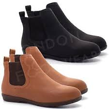 womens flat boots uk womens flat low heel chelsea boots ankle shoes