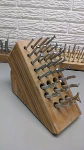 Cool Knife Block Old Knife Block Turned Into A Leather Tool Rack 15 Minutes At The