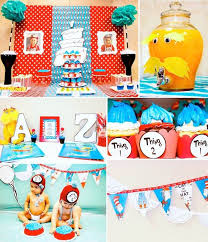 Thing One And Thing Two Party Decorations Kara U0027s Party Ideas Thing 1 And Thing 2 Twin Themed Birthday Party