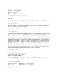 journal submission cover letter sample