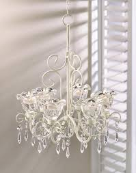 Ivory Chandelier Shabby Dazzling Chic Beaded Chandelier Shabby Ivory Candle Light
