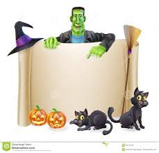 Halloween Banner Clipart by Halloween Scroll Background Royalty Free Stock Images Image