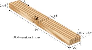 Wood Joints Diagrams by Static And Dynamic Tensile Shear Test Of Glued Lap Wooden Joint
