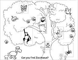 Creative Printable Zacchaeus Craft About Luxurious Article Zacchaeus Coloring Page