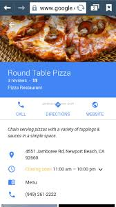 call round table pizza round table pizza pizza order review from los angeles california